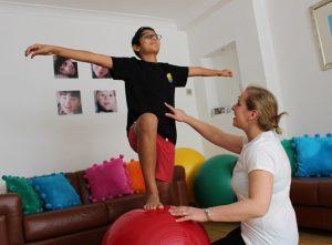 balancing-on-ball